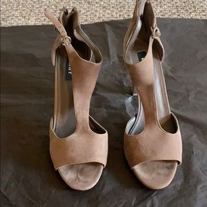 DKNYSuede pumps with silver heel